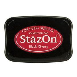 FARBE / STEMPELKISSEN StaZon-stemplet blekk: Svart kirsebær (Stazon blekk er farget og vanntett)
