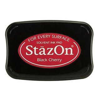 FARBE / STEMPELKISSEN Encre StaZon Stamp: Black Cherry (l'encre Stazon est résistante à la couleur et résistante à l'eau)