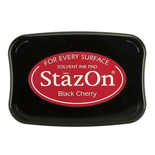FARBE / STEMPELKISSEN StaZon stamp ink: Black Cherry (Stazon ink is colourfast and water resistant)