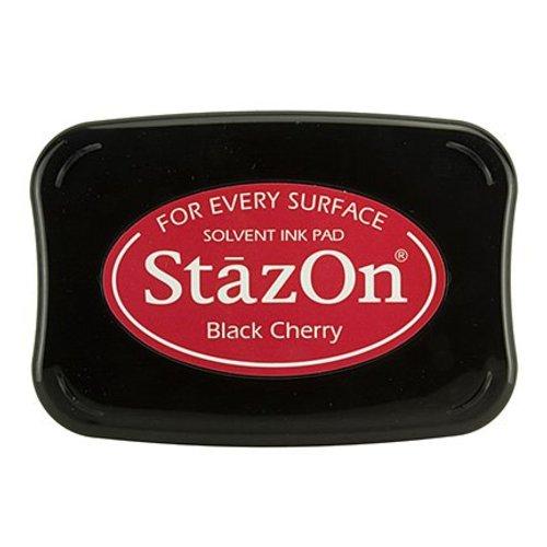 FARBE / STEMPELKISSEN StaZon frimærke blæk: Black Cherry (Stazon blæk er farvestof og vandtæt)