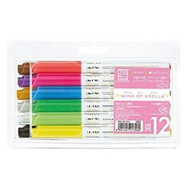FARBE / MEDIA FLUID / MIXED MEDIA ZIG's WINK of STELLA - gel pencil with softly colored glitter effects in 12 colors