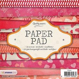 Karten und Scrapbooking Papier, Papier blöcke Bloque de papel para tarjetas y álbumes de recortes, 15 x 15 cm.
