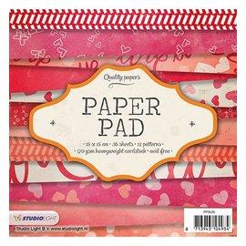 Karten und Scrapbooking Papier, Papier blöcke Kort og scrapbog papirblok, 15 x 15 cm
