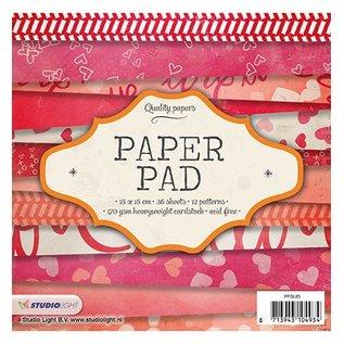 Karten und Scrapbooking Papier, Papier blöcke Kaart en plakboekblok, 15 x 15 cm