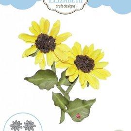 Elisabeth Craft Dies , By Lene, Lawn Fawn Stanzschablonen, 3D Sonneblumen