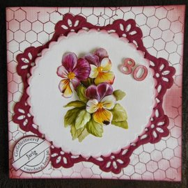 Marianne Design Stamping template: 2 decorative frames and 2 leaves