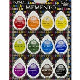 FARBE / STEMPELKISSEN Tinta del sello: Memento Dew Drops Set de 12 colores! Tinta de secado rápido que no se desvanece y cubre bien.