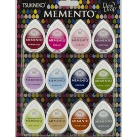 FARBE / STEMPELKISSEN Stempel Tinte: Memento Dew Drops Set mit 12 Farbe! schnell trocknende Tinte, die nicht ausbleicht und gut deckt.