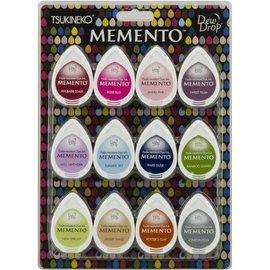 FARBE / STEMPELKISSEN Inchiostro per timbri: Memento Dew Drops Set di 12 colori! inchiostro ad asciugatura rapida che non si sbiadisce e copre bene.