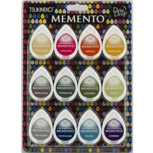 FARBE / STEMPELKISSEN Stamp Ink: Memento Dew Drops Set of 12 Color! fast-drying ink that does not fade and covers well.