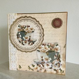 "Hunkydory Luxus Sets Hunkydory, jeu de cartes de luxe ""Vintage Blossom"""