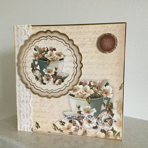 "Vintage, Nostalgia und Shabby Shic Hunkydory, luxe kaartenset ""Vintage Blossom"""