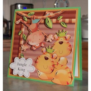 "Hunkydory Luxus Sets Hunkydory, set di carte di lusso ""jungle Japes"""