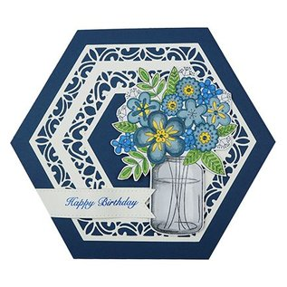 "CREATIVE EXPRESSIONS und COUTURE CREATIONS Stempelmotiv, Transparent, Blumenbouquet in Vase von ""Creative Expressions"""