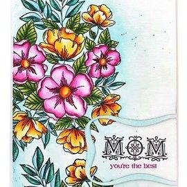 """Penny Black Stamp motif, stamp motif, transparent, flowers of """"Penny Black"""""""