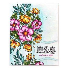 """Penny Black Frimærke motiv, frimærke motiv, gennemsigtige, blomster af """"Penny Black"""""""