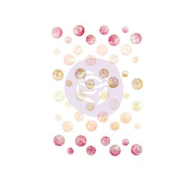 "Prima Marketing und Petaloo Abbellimenti, ""Misty Rose"" 45 Crystal Stones"