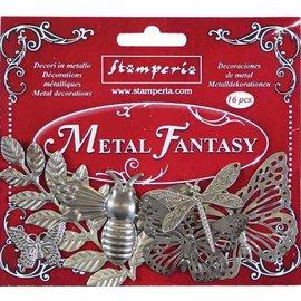 Stamperia und Florella Stamperia Metal Fantasía Adornos