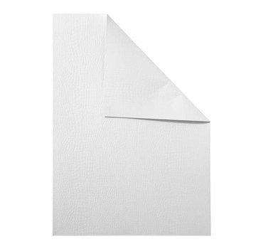 Karten und Scrapbooking Papier, Papier blöcke Tekstureret karton, A4, 250 g, 10 ark - hvid
