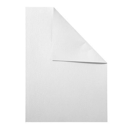 Karten und Scrapbooking Papier, Papier blöcke Strukturkarton, DIN A4, 250 g, 10 Blatt - weiß