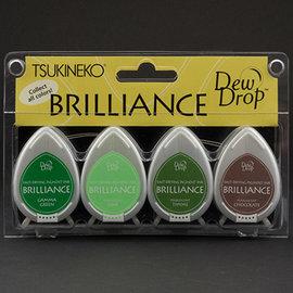 FARBE / STEMPELKISSEN Brilliance Dew Drop - Juego de 4