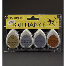 FARBE / STEMPELKISSEN Brilliance Dew Drop - Set di 4