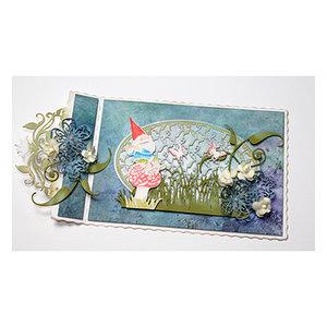 Joy!Crafts / Jeanine´s Art, Hobby Solutions Dies /  Stanzschablonen, Kobold sitzt auf ein Pilz