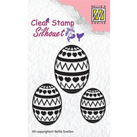 Stamp, banner, Easter eggs