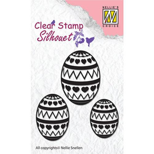 Nellie Snellen Stamp, banner, Easter eggs
