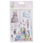 Docrafts / Papermania / Urban Stamp, transparent, 14 motifs, such as cake, gifts