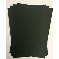 A4 Luxury Cardstock, 220 gsm, Black, 10 sheets