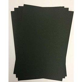 Karten und Scrapbooking Papier, Papier blöcke A4 Luxury Cardstock, 220 gsm, Black, 10 sheets
