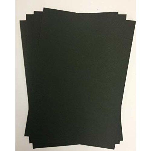 Karten und Scrapbooking Papier, Papier blöcke Papier cartonné de luxe A4, 220 g / m², noir, 10 feuilles