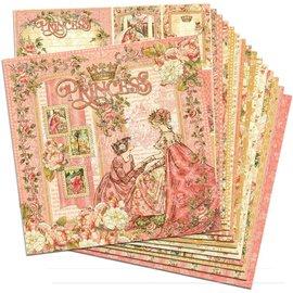 GRAPHIC 45 Bloque de papel para tarjetas y álbumes de recortes, 20,5 x 20,5 cm.