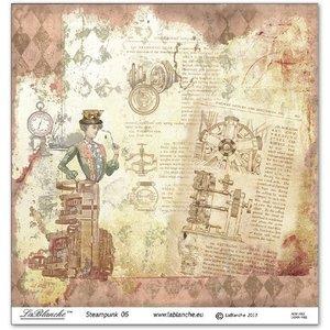 LaBlanche 1 feuille, 30,5 x 30,5 cm de La Blanche '' STEAMPUNK 6 '' seulement quelques-uns en stock!