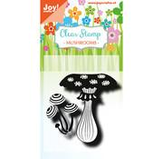 Nellie Snellen Stamp, transparency, mushrooms
