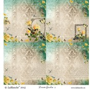 LaBlanche 1 sheet, 30.5 x 30.5 cm from La Blanche 'Dream Garden 2 ""