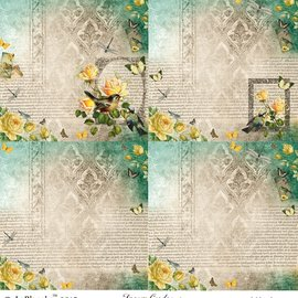 "LaBlanche 1 sheet, 30.5 x 30.5 cm from La Blanche 'Dream Garden 2 """