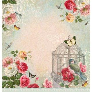 "LaBlanche 1 sheet, 30.5 x 30.5 cm from La Blanche 'Dream Garden 3 """
