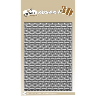 """Elisabeth Craft Dies , By Lene, Lawn Fawn 3D embossingfolder A6 """"Woven"""" braiding motif. These 3D embossing folders, give a very deep 3D embossing!"""