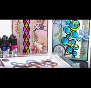 FARBE / MEDIA FLUID / MIXED MEDIA Efecto de vidrio: PINTURAS DE CRISTAL, bote de 20 ml. Color cristalino colorido (con consejos y técnica de video)