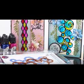 FARBE / MEDIA FLUID / MIXED MEDIA Glas Effekt: CRYSTAL TINTS, krukke 20 ml. Farverig krystalfarve (med Video Tips & Teknik)