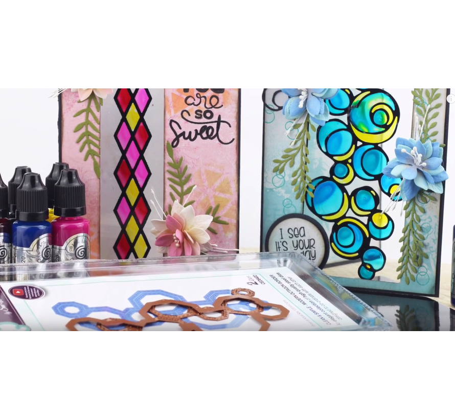 Glass Effect: CRYSTAL TINTS, pot 20 ml. Colorful Crystal Color (with Video Tips & Techniek)