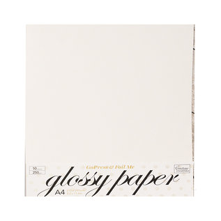 Karten und Scrapbooking Papier, Papier blöcke Luxury qualitatives Papier mit  hohem Glanz in weiss! Enthält 10 Blätter, 250 g / m².