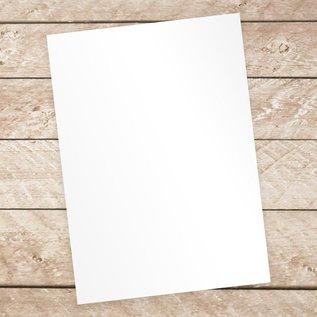 Karten und Scrapbooking Papier, Papier blöcke Luxe kwaliteitspapier met hoogglans in wit! Bevat 10 bladeren, 250 g / m².