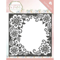 cutting dies, Flowers decorative frame, 13 x 13 cm