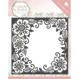 Precious Marieke cutting dies, Flowers decorative frame, 13 x 13 cm