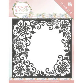 Precious Marieke cutting dies, Flowers decorative frame, 13 x 13 cm
