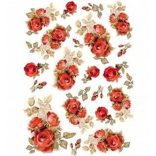 Stamperia und Florella Stamperia Decoupage Rice Paper A4 Red Roses