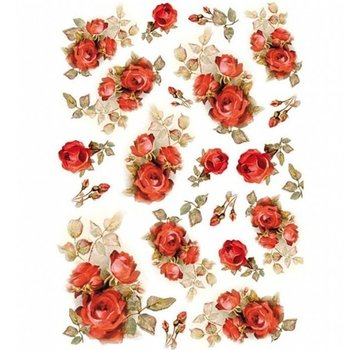 Stamperia Stamperia Decoupage Rice Paper A4 Red Roses